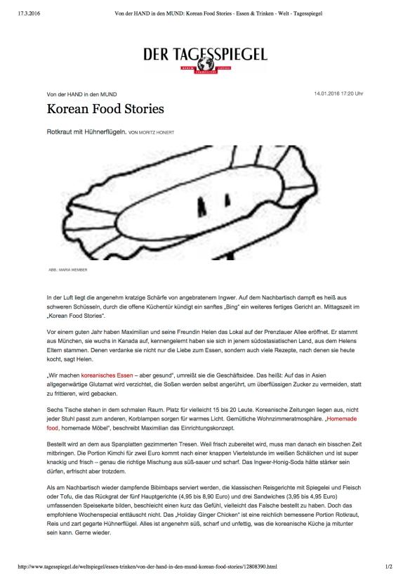 Von der HAND in den MUND_ Korean Food Stories - Essen & Trinken - Welt - Tagesspiegel